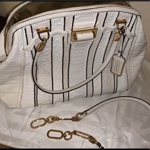 Coach Madison Domed Satchel Exotic Stripe Leather